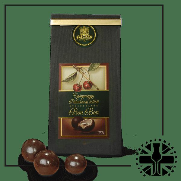 Sour Cherry Palinka Dark Chocolate Liquor 100 gr
