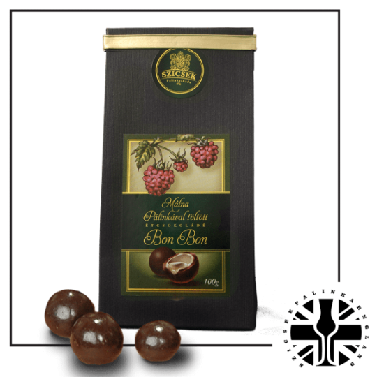 Raspberry Palinka Dark Chocolate Liquor 100 gr