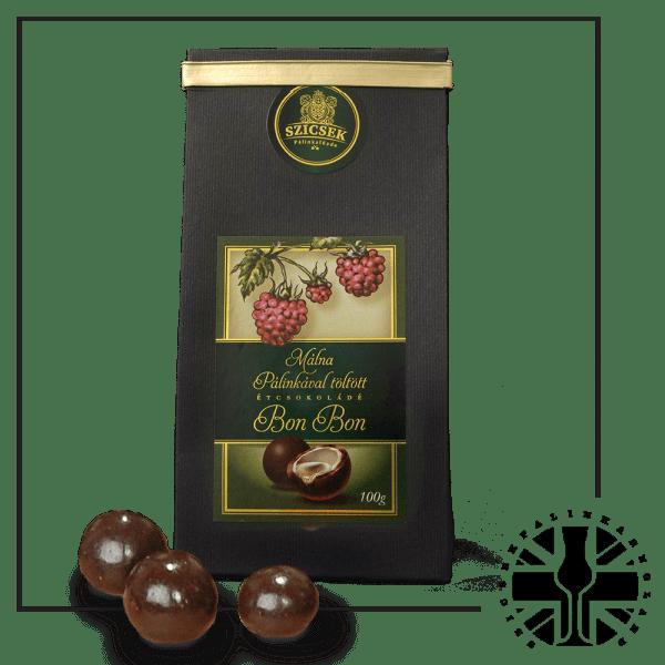 Raspberry Palinka Dark Chocolate Liquor 100 gr